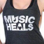 Music Heals Logo - Tank - White on Grey